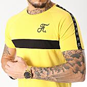 /achat-t-shirts-longs-oversize/final-club-tee-shirt-premium-fit-avec-bande-et-broderie-087-jaune-151306.html
