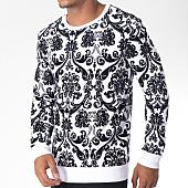 /achat-sweats-col-rond-crewneck/uniplay-sweat-crewneck-uy235-blanc-noir-floral-151263.html