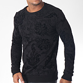 /achat-sweats-col-rond-crewneck/uniplay-sweat-crewneck-uy236-noir-floral-151285.html