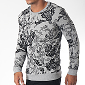 /achat-sweats-col-rond-crewneck/uniplay-sweat-crewneck-uy236-gris-chine-noir-floral-151288.html