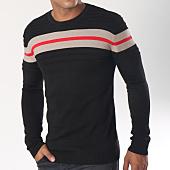 /achat-pulls/ikao-pull-f194-noir-beige-rouge-151414.html
