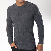 /achat-pulls/ikao-pull-f190-gris-anthracite-chine-151454.html