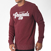 /achat-sweats-col-rond-crewneck/jack-and-jones-sweat-crewneck-halt-bordeaux-151357.html