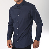 /achat-chemises-manches-longues/jack-and-jones-chemise-manches-longues-poplin-bleu-marine-151380.html