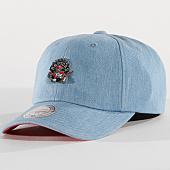 /achat-casquettes-de-baseball/mitchell-and-ness-casquette-denim-pin-toronto-aptors-bleu-clair-151367.html
