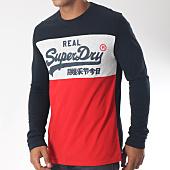/achat-t-shirts-manches-longues/superdry-tee-shirt-manches-longues-vintage-logo-panel-m60008tr-noir-gris-chine-rouge-151555.html
