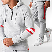 /achat-ensembles-survetement/aarhon-ensemble-de-survetement-avec-bandes-aj158-gris-chine-rouge-blanc-151583.html