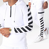 /achat-ensembles-survetement/aarhon-ensemble-de-survetement-aj151-blanc-noir-151598.html