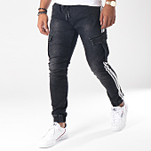/achat-jogger-pants/aarhon-jogger-pant-bandes-brodees-a113-noir-blanc-151626.html