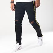 /achat-jeans/aarhon-jean-slim-bandes-brodees-a92-noir-jaune-151629.html