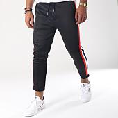 /achat-pantalons-carreaux/aarhon-pantalon-jogging-a-bandes-18-229a-noir-tricolore-151658.html