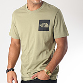 /achat-t-shirts/the-north-face-tee-shirt-fine-vert-kaki-noir-151795.html