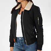 /achat-bombers/bombers-original-bomber-femme-col-mouton-barcelone-noir-151993.html