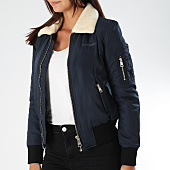 /achat-bombers/bombers-original-bomber-femme-col-mouton-barcelone-bleu-marine-151995.html