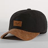 /achat-casquettes-de-baseball/reell-jeans-casquette-curved-suede-noir-marron-151894.html