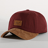 /achat-casquettes-de-baseball/reell-jeans-casquette-curved-suede-bordeaux-marron-151899.html