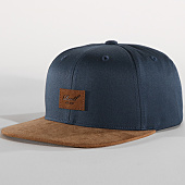 /achat-snapbacks/reell-jeans-casquette-snapback-suede-bleu-marine-marron-151909.html