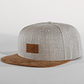 /achat-snapbacks/reell-jeans-casquette-snapback-suede-gris-chine-marron-151917.html