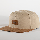 /achat-snapbacks/reell-jeans-casquette-snapback-suede-beige-marron-151918.html