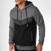 /achat-sweats-zippes-capuche/classic-series-sweat-zippe-capuche-8589-noir-chine-152196.html