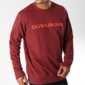 /achat-sweats-col-rond-crewneck/calvin-klein-sweat-crewneck-institutional-logo-7758-bordeaux-152442.html