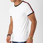 /achat-t-shirts/lbo-tee-shirt-avec-bandes-497-blanc-152547.html