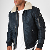 /achat-bombers/schott-nyc-bomber-col-mouton-pilote-bleu-marine-152311.html