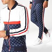 /achat-ensembles-survetement/uniplay-ensemble-de-survetement-avec-bandes-l15-blanc-bleu-marine-rouge-152462.html