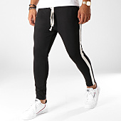 /achat-pantalons-carreaux/uniplay-pantalon-avec-bandes-t3261-noir-ecru-152470.html