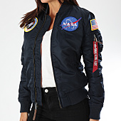 /achat-bombers/alpha-industries-bomber-femme-patchs-brodes-nasa-bleu-marine-152584.html