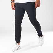 /achat-pantalons-carreaux/classic-series-pantalon-raye-28009-noir-152658.html
