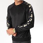 /achat-sweats-col-rond-crewneck/frilivin-sweat-crewneck-avec-bandes-3866-noir-floral-152697.html