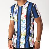 /achat-t-shirts-longs-oversize/frilivin-tee-shirt-oversize-3871-bleu-marine-blanc-floral-152701.html
