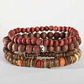 /achat-bracelets/icon-brand-lot-de-4-bracelets-b1180-marron-bordeaux-152597.html
