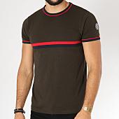 /achat-t-shirts/la-maison-blaggio-tee-shirt-avec-bandes-brodees-mastela-vert-kaki-152598.html