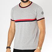 /achat-t-shirts/la-maison-blaggio-tee-shirt-avec-bandes-brodees-mastela-gris-chine-152601.html