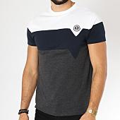 /achat-t-shirts/la-maison-blaggio-tee-shirt-madela-blanc-bleu-marine-gris-anthracite-chine-152620.html