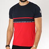 /achat-t-shirts/la-maison-blaggio-tee-shirt-machela-bleu-marine-rouge-152639.html