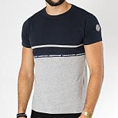 /achat-t-shirts/la-maison-blaggio-tee-shirt-machela-bleu-marine-gris-chine-152641.html