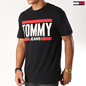 /achat-t-shirts/tommy-hilfiger-jeans-tee-shirt-essential-block-5111-noir-152798.html