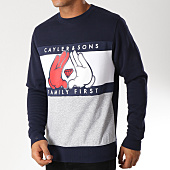 /achat-sweats-col-rond-crewneck/cayler-and-sons-sweat-crewneck-first-gris-chine-bleu-marine-152943.html