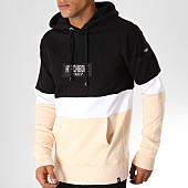 /achat-sweats-capuche/hechbone-sweat-capuche-dylon-noir-blanc-beige-152989.html