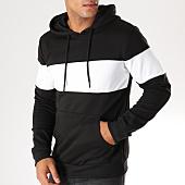/achat-sweats-capuche/zayne-paris-sweat-capuche-avec-bande-tx-145-noir-blanc-152966.html