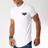 /achat-polos-manches-courtes/gianni-kavanagh-polo-manches-courtes-oversize-gold-blanc-dore-153075.html