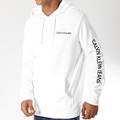 /achat-sweats-capuche/calvin-klein-sweat-capuche-institutional-chest-logo-9795-blanc-noir-153286.html