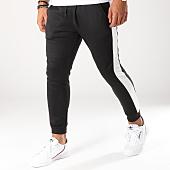 /achat-pantalons-joggings/aarhon-pantalon-jogging-avec-bandes-8876-noir-blanc-153466.html
