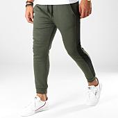 /achat-pantalons-joggings/aarhon-pantalon-jogging-avec-bandes-8876-vert-kaki-noir-153468.html
