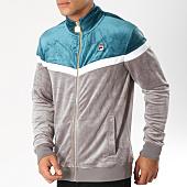 /achat-vestes/fila-veste-zippee-velours-harry-684403-gris-blanc-vert-153548.html