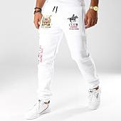 /achat-pantalons-joggings/geographical-norway-pantalon-jogging-patchs-brodes-musain-blanc-153581.html