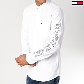 /achat-chemises-manches-longues/tommy-hilfiger-jeans-chemise-manches-longues-solid-brushed-4997-blanc-153630.html